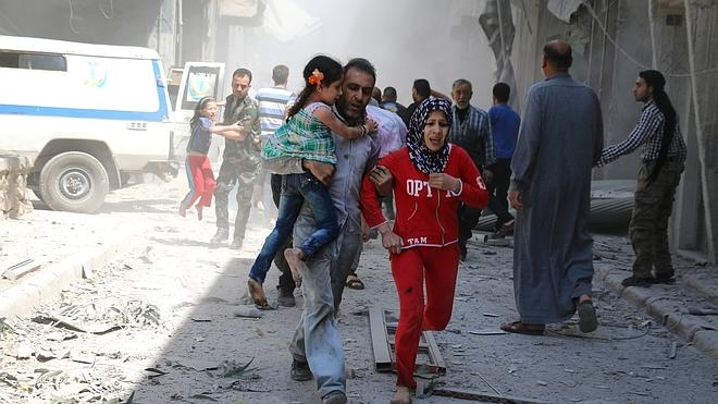 Un nuevo bombardeo alcanza una clínica en la zona rebelde de Alepo