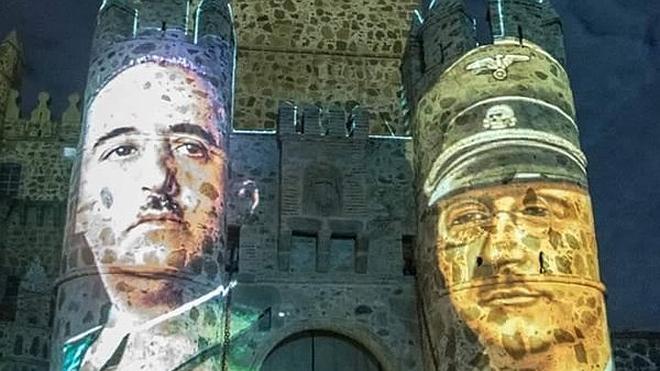 Polémica por la difusión de imágenes de Franco, Hitler y Himmler en un espectáculo cultural en Toledo