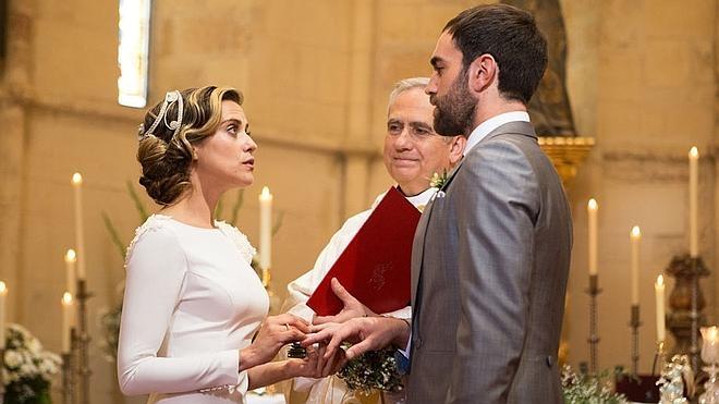 La boda entre Iñaki y Carmen en 'Allí abajo' conquista el 'prime time'