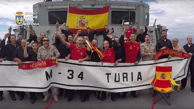 Las Fuerzas Armadas juegan en la Eurocopa
