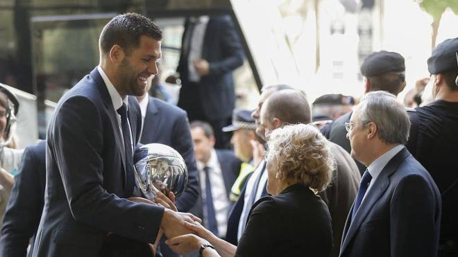 El Real Madrid festeja la Liga