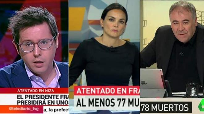 Las cadenas reaccionaron al atentado de Niza con Antena 3 a la cabeza
