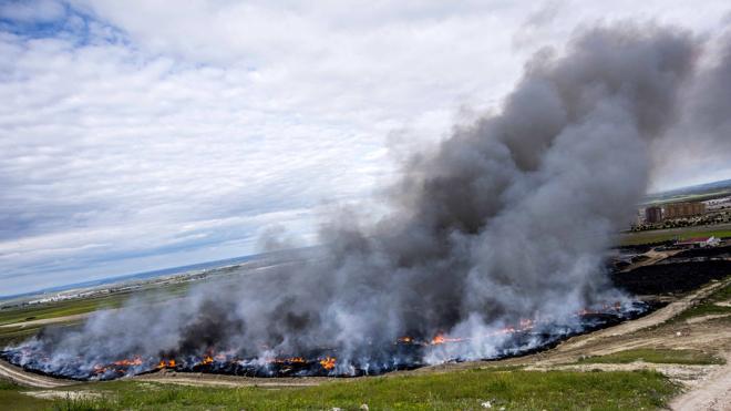 El incendio de Seseña ha contaminado las zonas de cultivo de la zona
