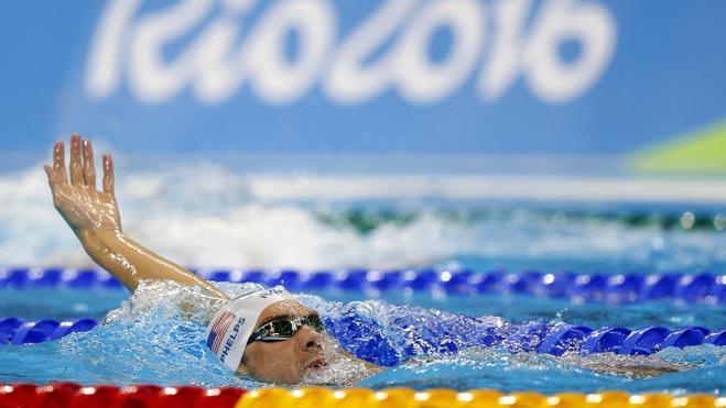 El último chapuzón de Phelps