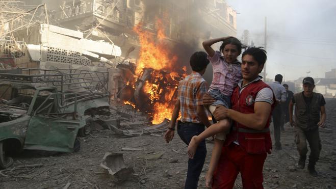 Los bombardeos del régimen sirio dejan más de 9.300 civiles muertos en 22 meses