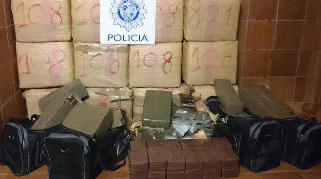 Detenidas 22 personas y 840 kilos de hachís incautados en una operación antidroga en Castellón