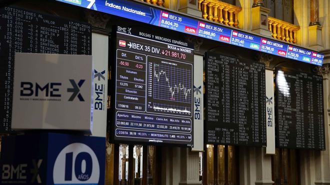 El Ibex-35 deja escapar los 8.700