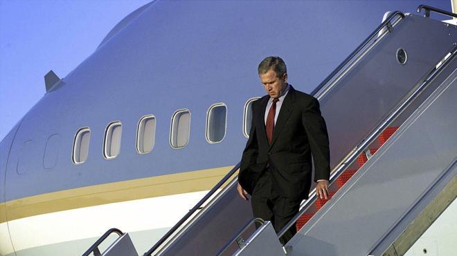 El vuelo más difícil de Bush