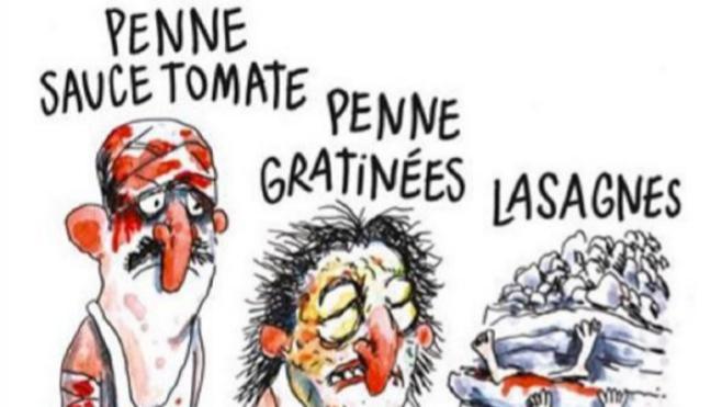 Amatrice denuncia a Charlie Hebdo por la viñeta alusiva al seísmo