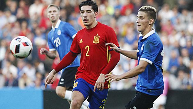 España gana y espera rival para la repesca de la Eurocopa sub-21