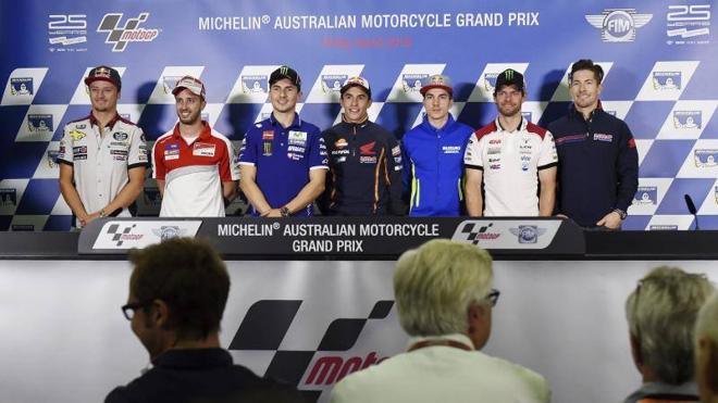 El frío y el viento ponen en alerta a los pilotos de MotoGP