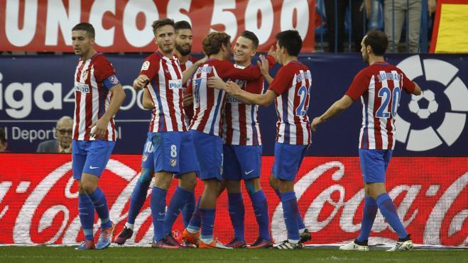El Atlético se desata en ataque