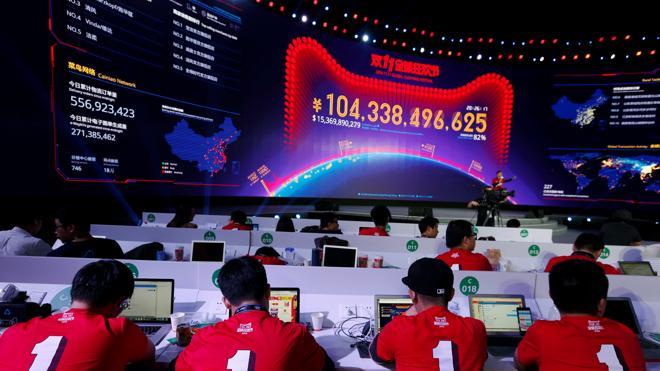 Alibaba cierra el Día del Soltero con ventas récord de 16.300 millones de euros
