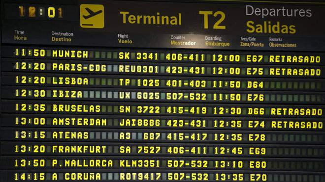 Cancelan 22 vuelos en España por la huelga de controladores franceses