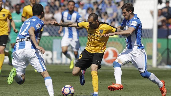 El Leganés domina a un Málaga sin ideas que perdonó casi al final