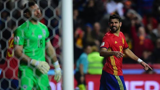 Diego Costa sufre un traumatismo en el entrenamiento