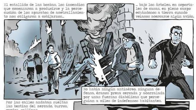 'La muerte de Guernica', en viñetas