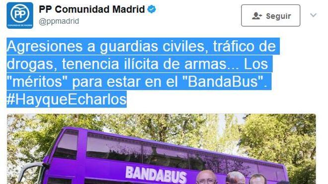 El PP contraataca con el 'BandaBus'