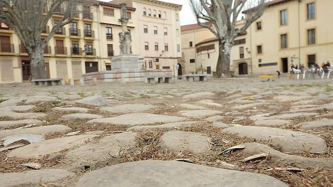 Las obras de la plaza del Grano, a la espera de la subvención