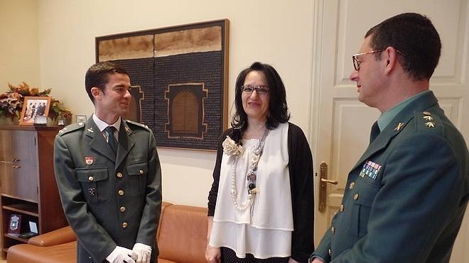 Mata recibe al nuevo responsable de la Guardia Civil en Ponferrada y el Bierzo