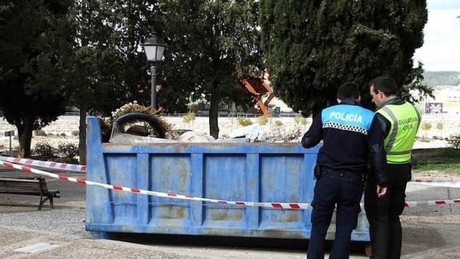 Hallan restos humanos en un contenedor de basura en Peñafiel