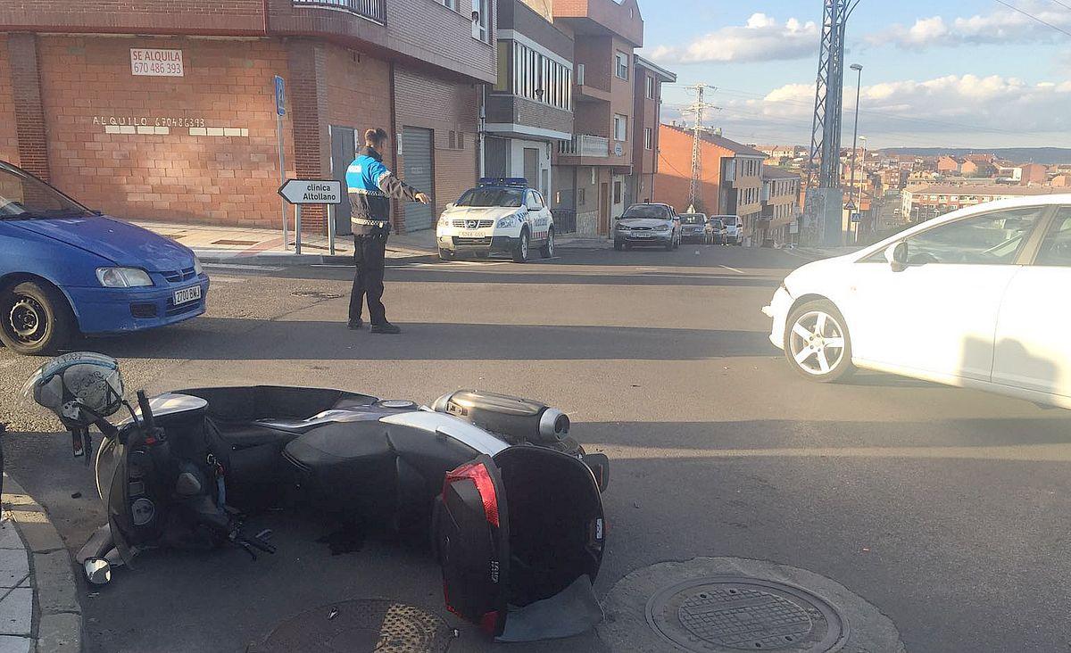 Un herido tras un accidente de moto en Altos de Nava
