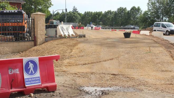 Fomento señala que las obras de la rotonda de La Granja avanzan «más rápido de lo esperado»