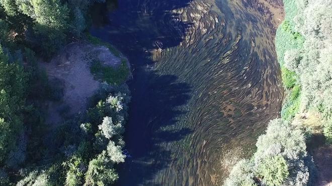 El Esla, a vista de dron