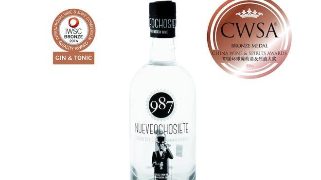 La ginebra '987' suma una nueva medalla de oro en el China Wine and Spirits Awards