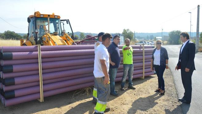 Comienzan los trabajos de soterramiento de la línea eléctrica en Villaquilambre
