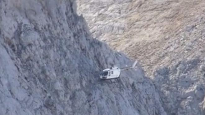 Impresionante rescate de dos montañeros en Picos de Europa