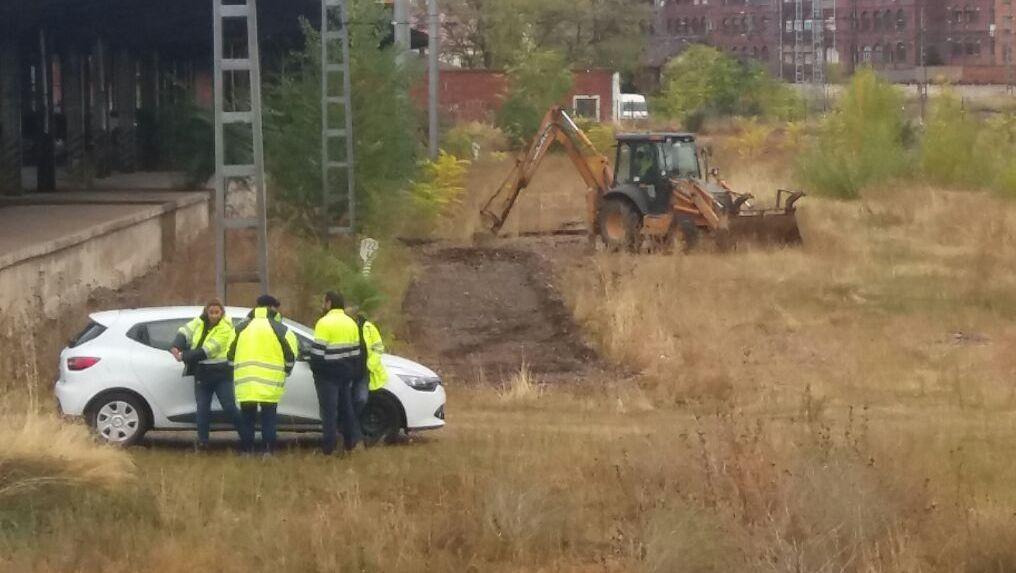 Comienzan las primeras obras de marcación para acometer el soterramiento ferroviario en León capital