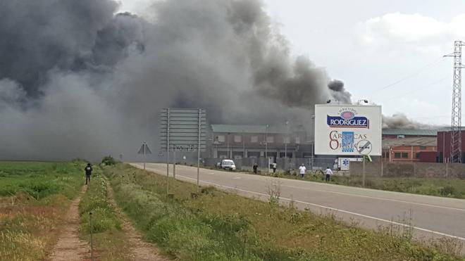 La Junta subvenciona con 334.000 euros a los empleados de Servicarne afectados por el incendio de Embutidos Rodríguez