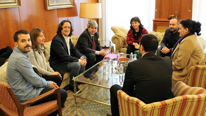 El rector de la ULE se reúne con la viceministra de Educación de Albania