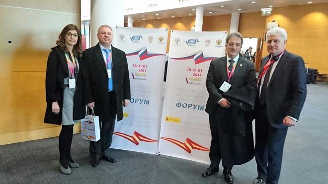 El alcalde de Astorga asiste, invitado por el embajador de Rusia, al Foro Turístico Hispano-Ruso en Fitur
