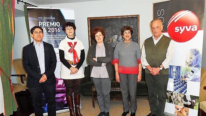 Syva entrega 15.000 euros a la mejor tesis doctoral en sanidad animal