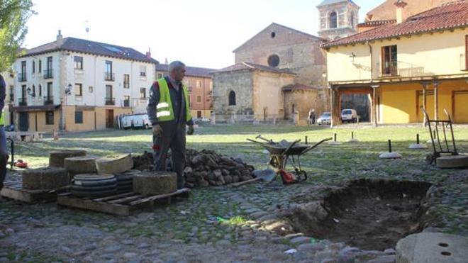 Patrimonio pone fin a los cuatro sondeos realizados en la Plaza del Grano