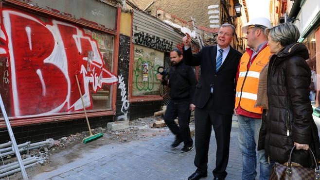 León recupera la muralla pérdida con la demolición de los edificios aledaños al cubo de Conde Rebolledo