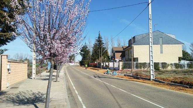 Valverde urbaniza la travesía de la localidad a Montejos dentro del Plan Provincial de Cooperación 2016